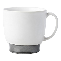 Emerson White/Pewter Cofftea Cup