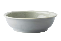 Puro Mist Grey Crackle Coupe Bowl