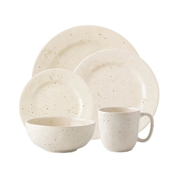 Puro Vanilla Bean 5pc Place Setting (Dinner, Dessert, Side, Cereal, Cofftea )