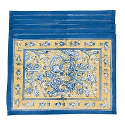 La Mer Placemats Blue & Yellow, Set of 6