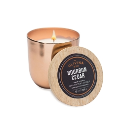 Bourbon Cedar Copper Soy Candle