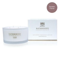 White Pepper, Honeysuckle & Vertivert Scented Luxury Candle