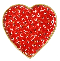 Red Lawn Medium Heart Plate