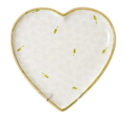 White Lawn Medium Heart Plate