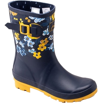 Joules Molly Mid-height Welly Navy Floral