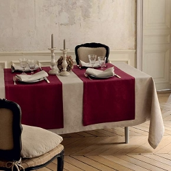 Mille Datcha Aubergine Table Runner 20