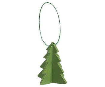 MIni Christmas Tree Wood Ornament