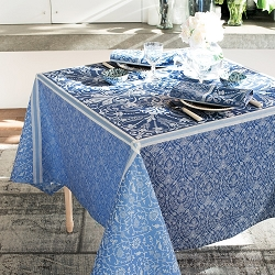 Cassandre Saphir Tablecloth 100% Cotton, Green Sweet