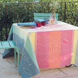 Mille Eole Marin Tablecloth, 100% Cotton