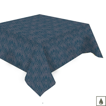Mille Ikats Petrole Tablecloth