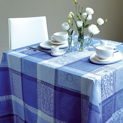 Mille Wax Ocean Tablecloth, Coated Cotton 69