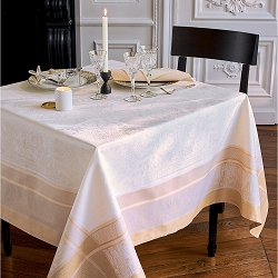 Persina Or(Gold)  Tablecloth 100% Cotton, Green Sweet