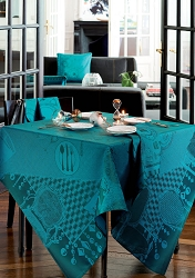 Entre Amis Tablecloth, 100% Cotton, Green Sweet