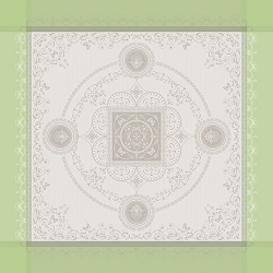 Eugenie Amande Tablecloth , 100% Cotton, Green Sweet
