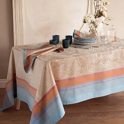 Isaphire Iridescent Tablecloth, 100% Cotton, Green Sweet