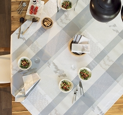 Mille Matieres Vapeur Tablecloth , 100% Cotton Coated and Uncoated