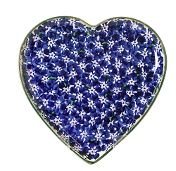 Dark Blue Lawn Medium Heart Plate