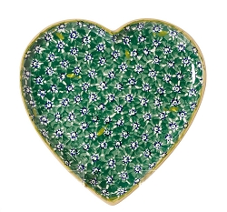 Green Lawn Medium Heart Plate