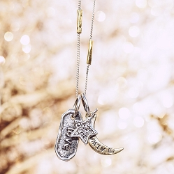 Rise Flow Leaf Forever Heartlock Necklace
