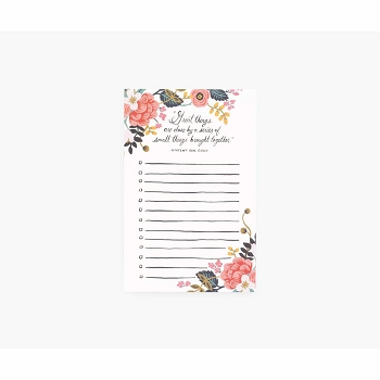 Rifle Paper Great Things Checklist Notepad