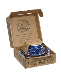 Blue Calico Teacup Gift Set