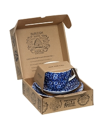 Blue Calico Breakfast Cup Gift Set