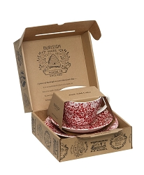 Red Calico Breakfast Cup Gift Set