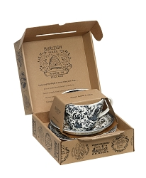 Regal Black Peacock Breakfast Cup Gift Set