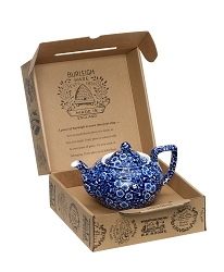 Blue Calico Teapot Gift Set Boxed