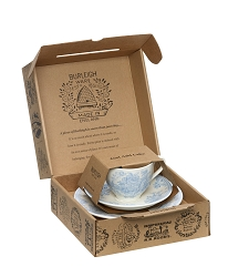 Blue Asiatic Pheasant Teacup Gift Set-special order