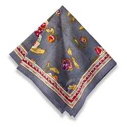 Pansy Napkins Red & Grey, Set of 6  Backordered