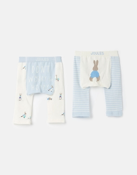 Joules LIVELY OFFICIAL PETER RABBIT™ COLLECTION 2 PACK INTARSIA LEGGINGS