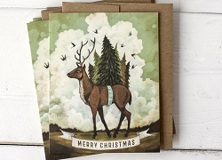 Christmas Elk Set/6 Cards