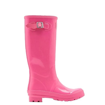 Glossy Pink Tall Wellies