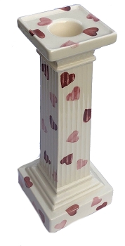 Pink Hearts Candlestick Holder (Collectable)- 3 available