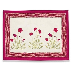 Poppies Placemats, Set of 6