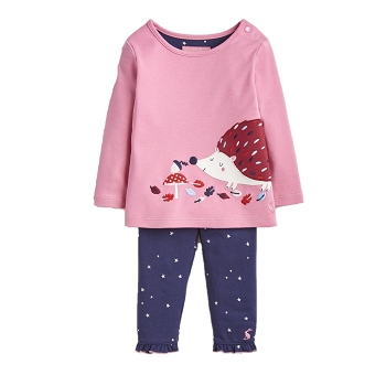 Infant Poppy Pink Hedgehog Set