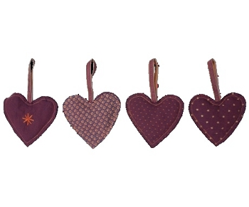 Maileg Purple Heart Ornament, Assorted