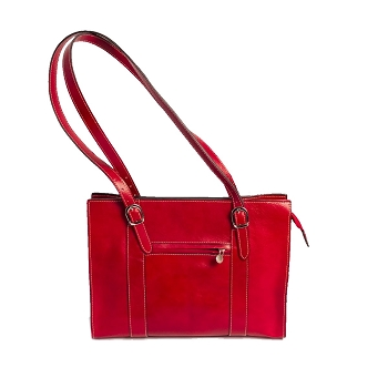 Radicofani Leather Bag, Italy -Red