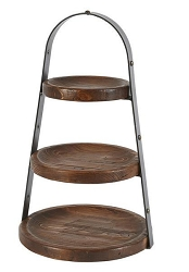Wooden 3 Tiered Stand, Handmade in Hungary