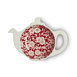 Red Calico Mini Teapot Tray