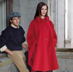Irish Red Wool Cape-One Size