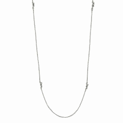 Granulated Minuet Chain - Sterling Silver 32