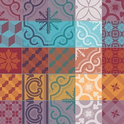 Mille Tiles Multicolore Napkin  22
