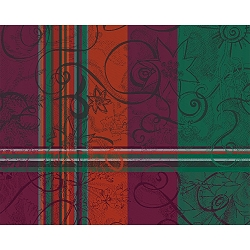 Mille Asters Noel Placemats, 100% Cotton   Set/4
