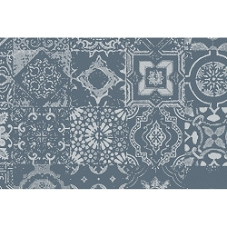 Mille Azulejos Bleu Ardoise Placemat , 100% Cotton  Set/4