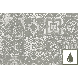 Mille Azulejos Natural Placemat, 100% Cotton  Set/4