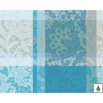 Mille Dentelles Turquoise Placemat Set/4 , Coated or Uncoated