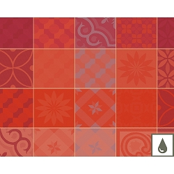 Mille Tiles Terracotta Placemat  Cotton or Coated Cotton set/4