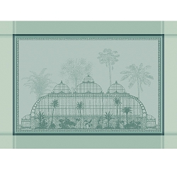 Serres Royales (Royal Greenhouse) Vert Placemat Greensweet 100% Cotton Set/4